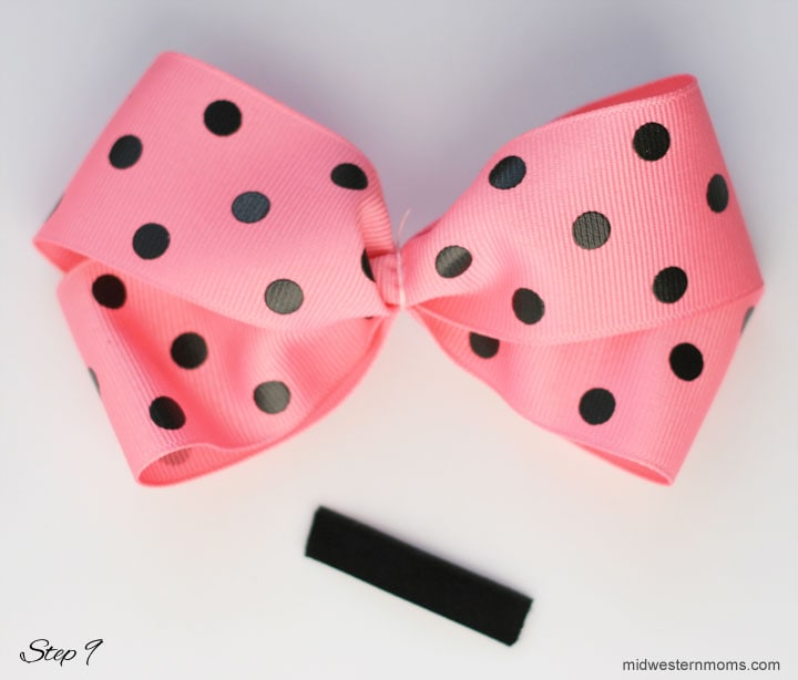How to make a boutique style hair bow - step 9