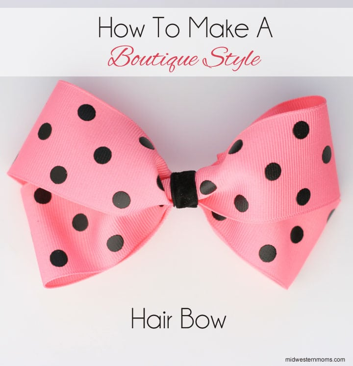 boutique hair bow instructions