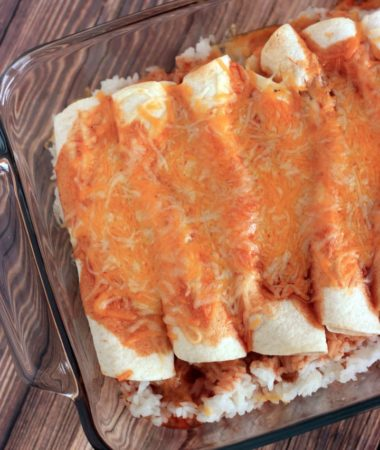 This easy cheese enchiladas recipe with rice will be a big hit with your family!