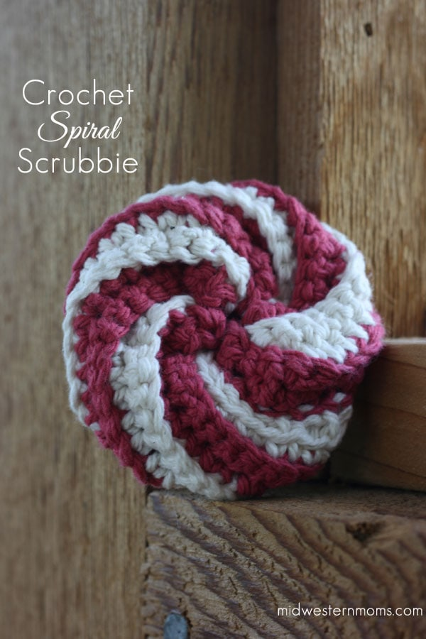 Crochet Spiral Scrubbie