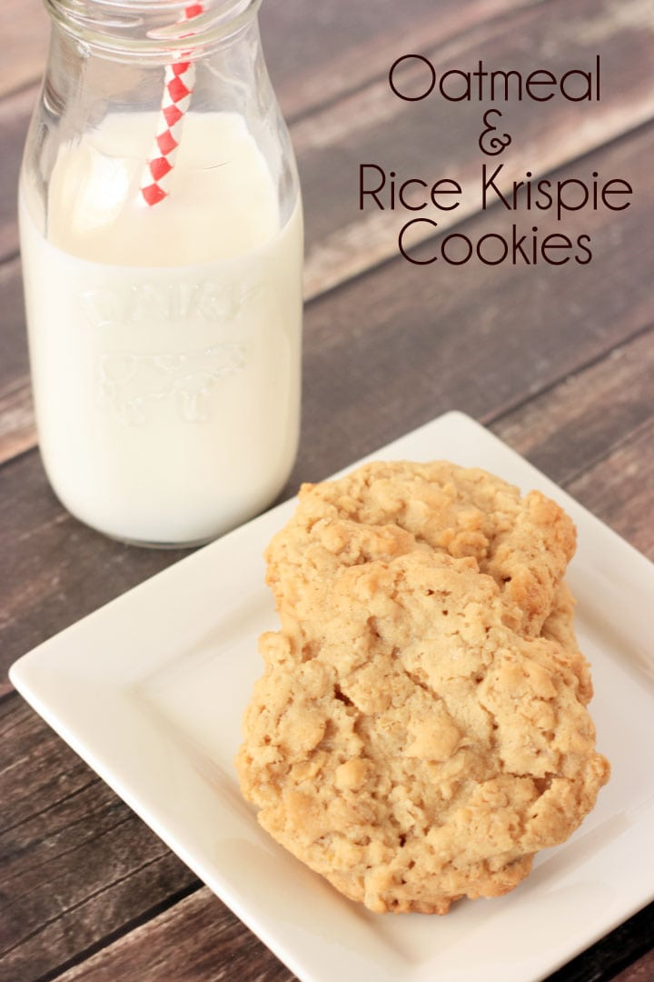 Rice Krispie and Oatmeal Cookies