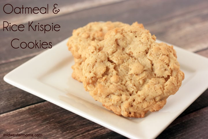 Love cookies with a crunch? These oatmeal cookies are made with a favorite crispy cereal. A must try recipe.