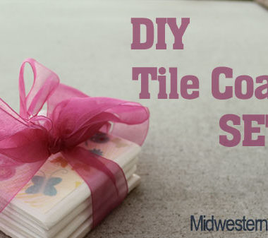 DIY Tile Coaster Set