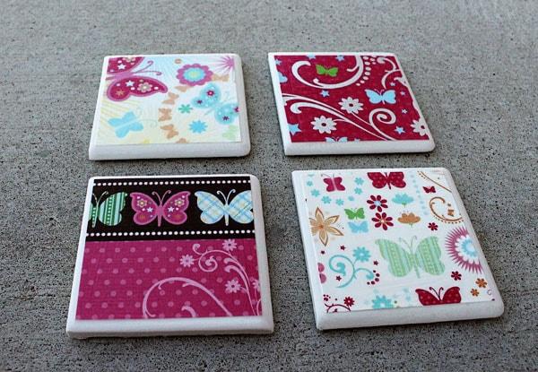 Finished Tile Coasters