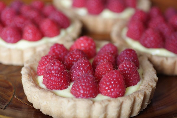 Lemon Tarts With Raspberries