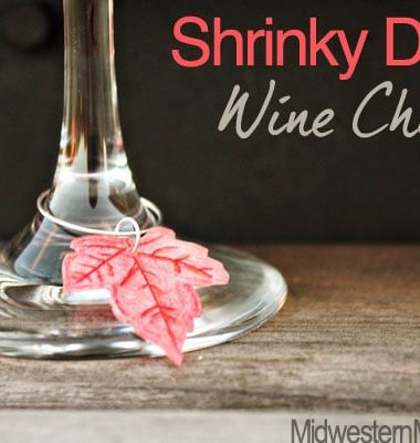 Shrinky Dinks Wine Charms