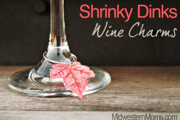 Shrinky Dinks Wine Charms
