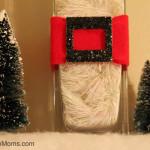 Santa Themed Candle Holder