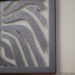 Zebra Print Framed Plastic Bag Art {Glad Black Bag}