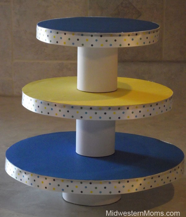 Diy cupcake stand for How to make a cake stand