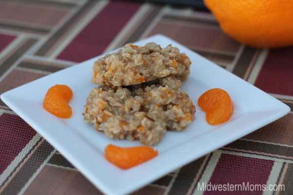 No Bake Orange Cream Oatmeal Cookies