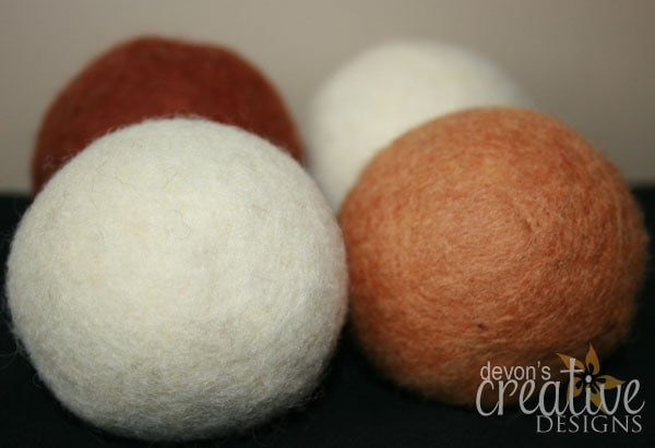 Carmel Pecan Wool Dryer Balls