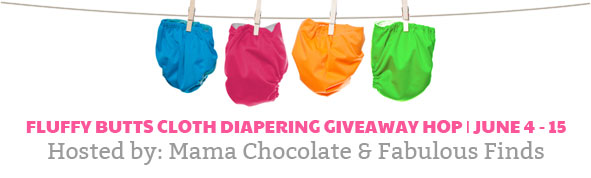 fluffy butts cloth diapering giveaway hop