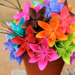 Origami Kusudama Flower Bouquet with AstroBrights Paper