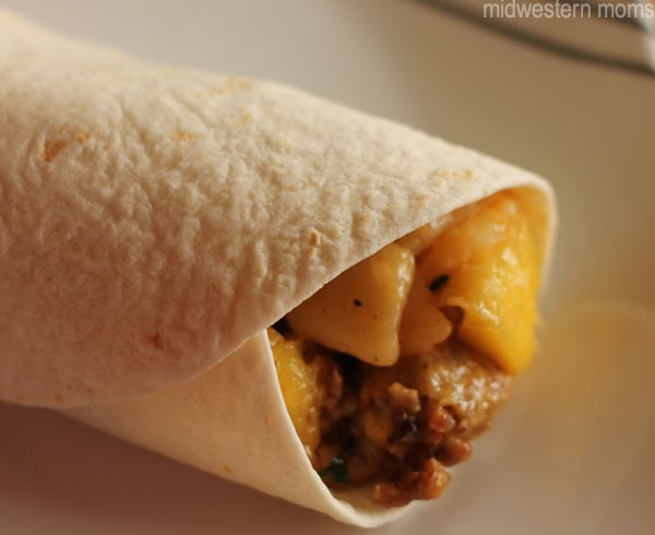 Mango Breakfast Burrito