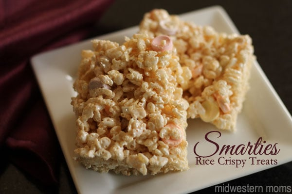 Smarties Rice Crispy Treats