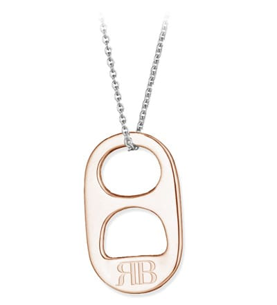 Rose Gold Soda Tab Necklace