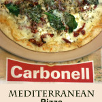 Mediterranean Pizza with Carbonell #daretocarbonell