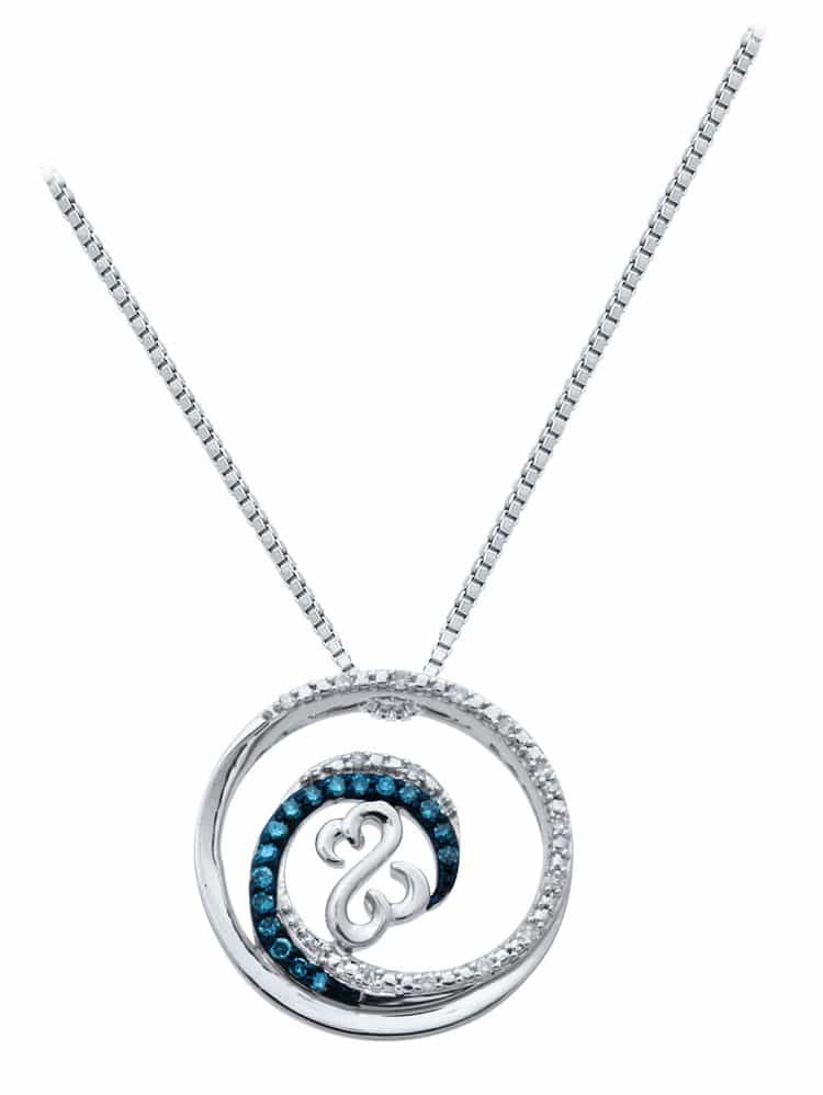 Open Hearts Waves Necklace by Jane Seymour