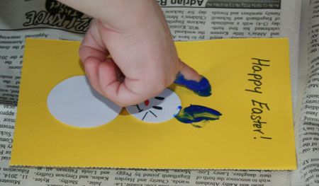 Fingerpaint Bunnies Step 6