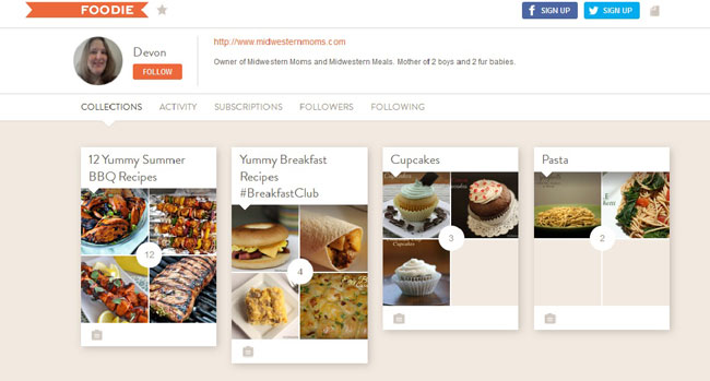 My Collections on Foodie.com