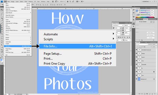 How to Copyright Photos Step 1