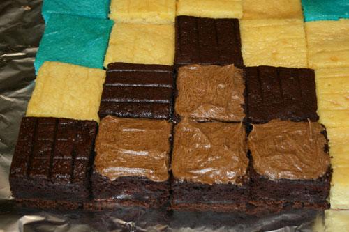 Minecraft Cake Step 4