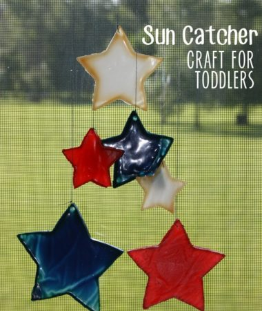 Sun Catcher Craft for Toddlers