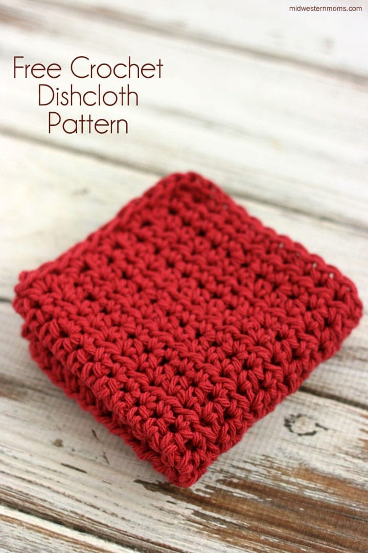 Crochet Patterns Dishcloths Free : Free Crochet Pattern - Dishcloth - Midwestern Moms