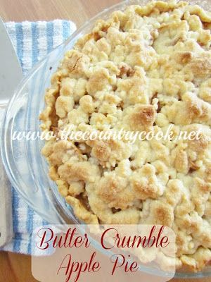 Butter Crumble Apple Pie