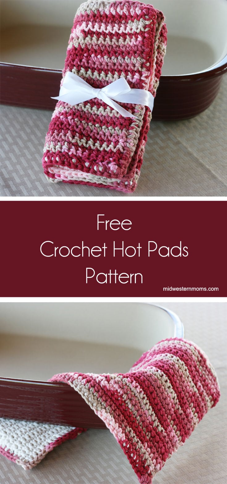 Great crochet pattern for Hot Pads or Pot Holders. Easy Free Pattern that is perfect for Beginners.