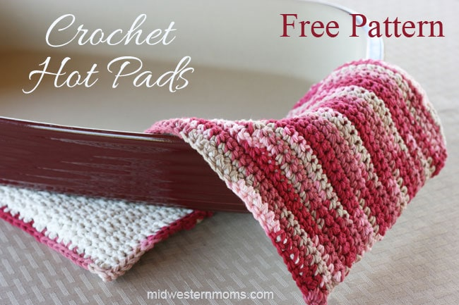 Free Crochet Hot Pads Pattern - Midwestern Moms