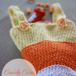 Crochet Candy Corn Trick-or-Treat Bag
