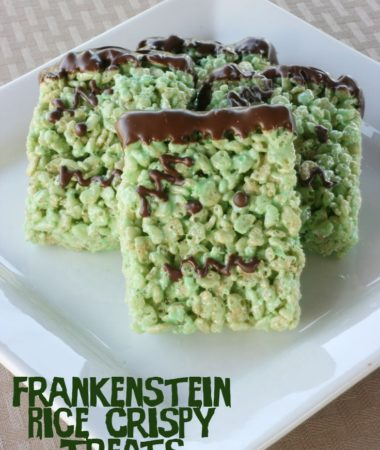 Frankenstein Rice Crispy Treats