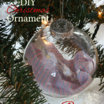 Easy to make baby hospital bracelet ornament which makes for a perfect DIY Baby's First Christmas Ornament!