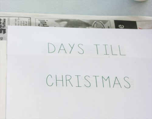 DIY Christmas Countdown Step 3