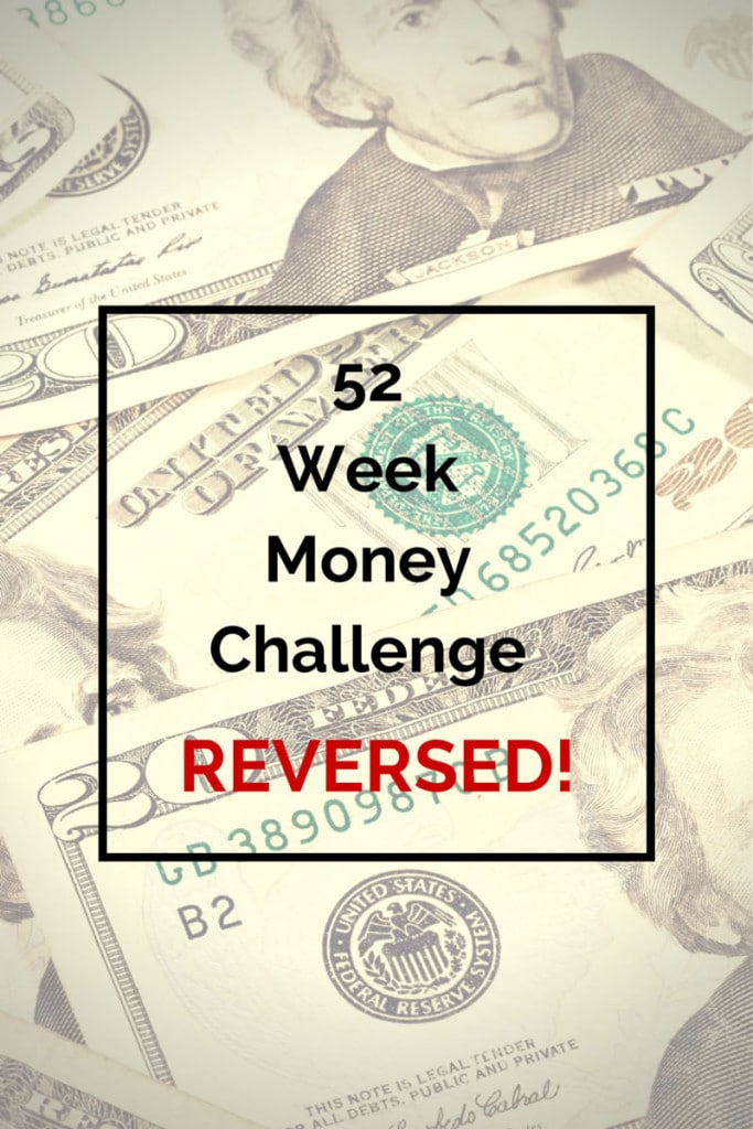 52 Week Money Challenge Reversed