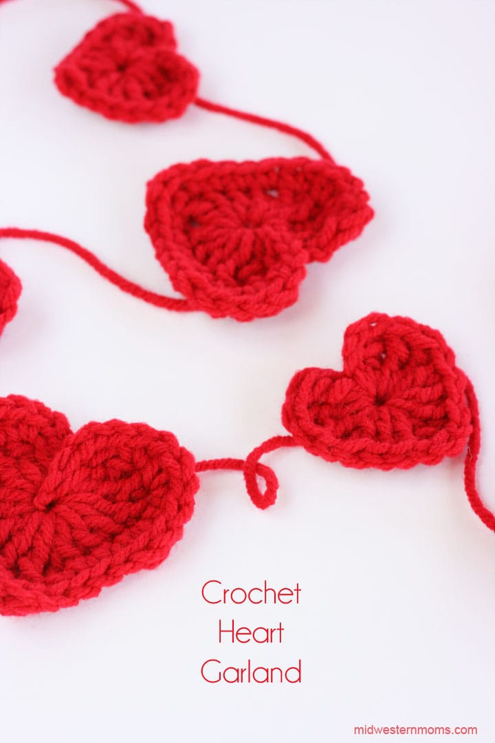 How To Crochet A Heart Plus DIY Heart Garland - Midwestern Moms