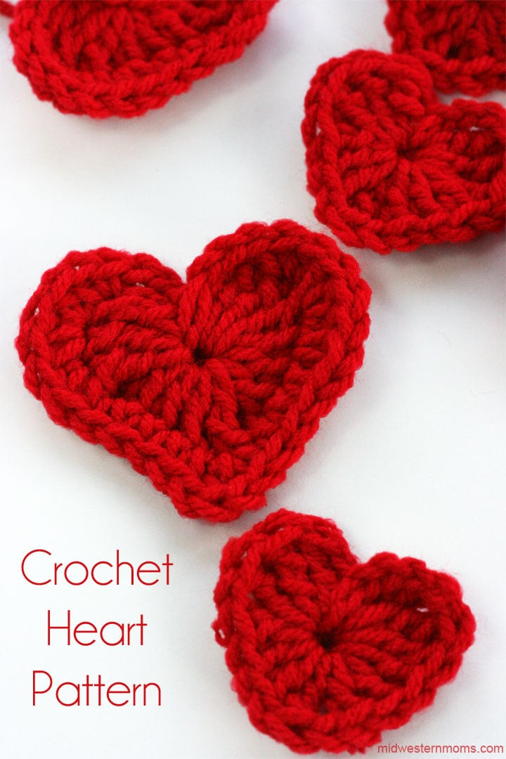 Learn how to make a crochet heart plus make a cute crochet heart garland.