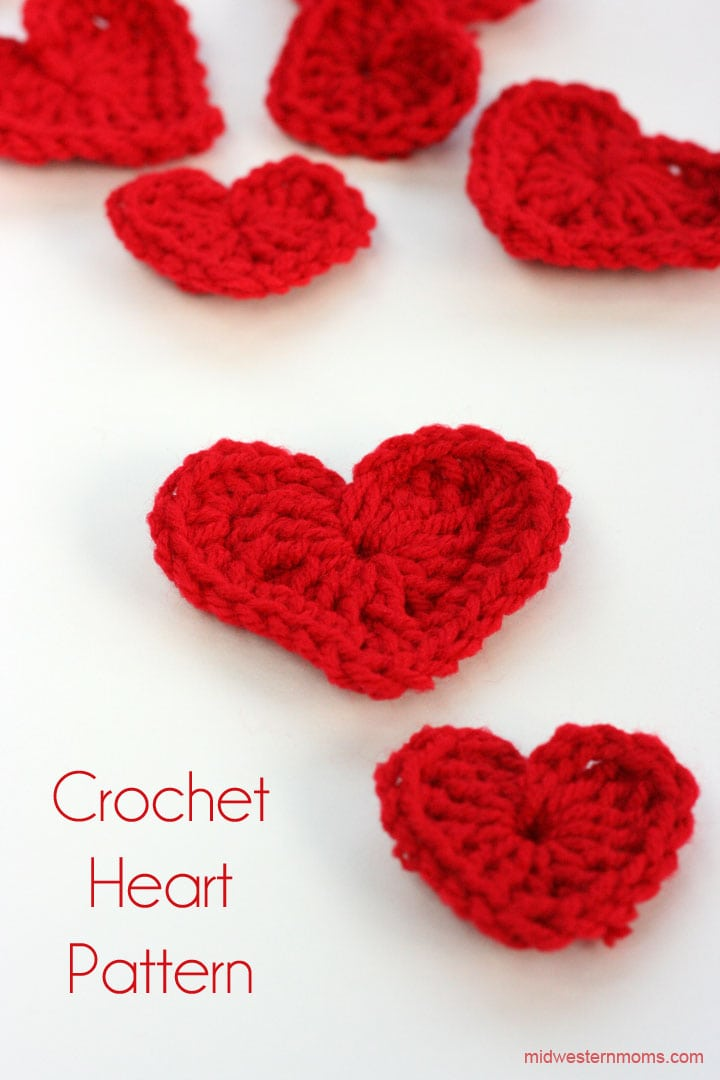 Crochet A Heart : How To Crochet A Heart Plus DIY Heart Garland - Midwestern Moms