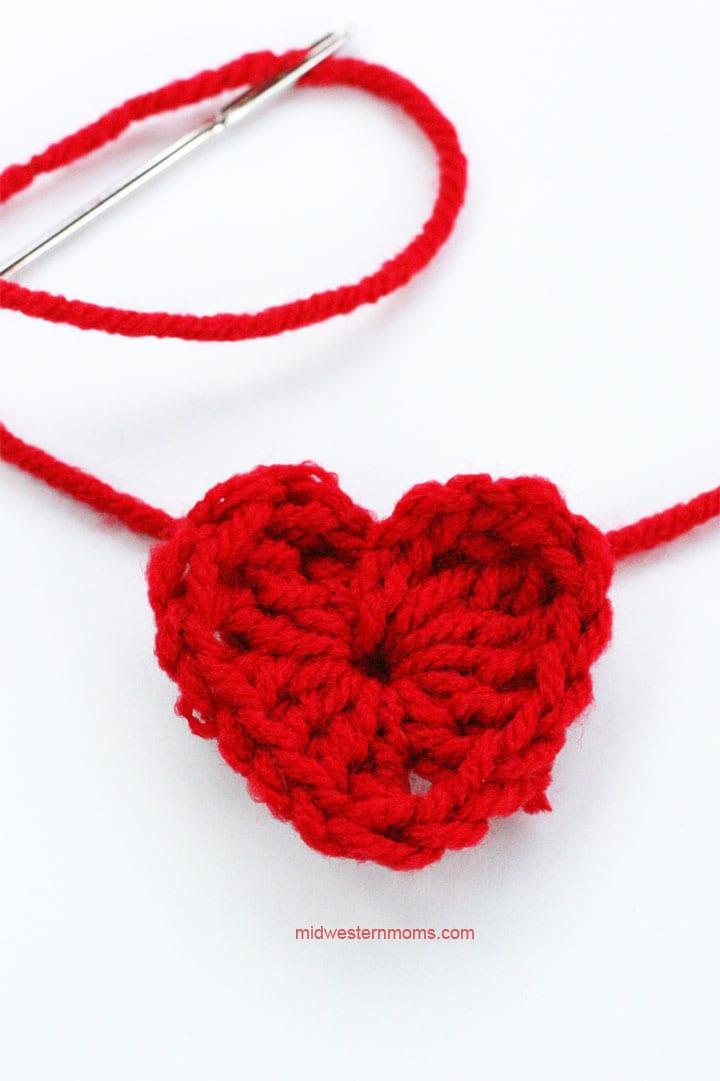 Small Heard threaded on yarn