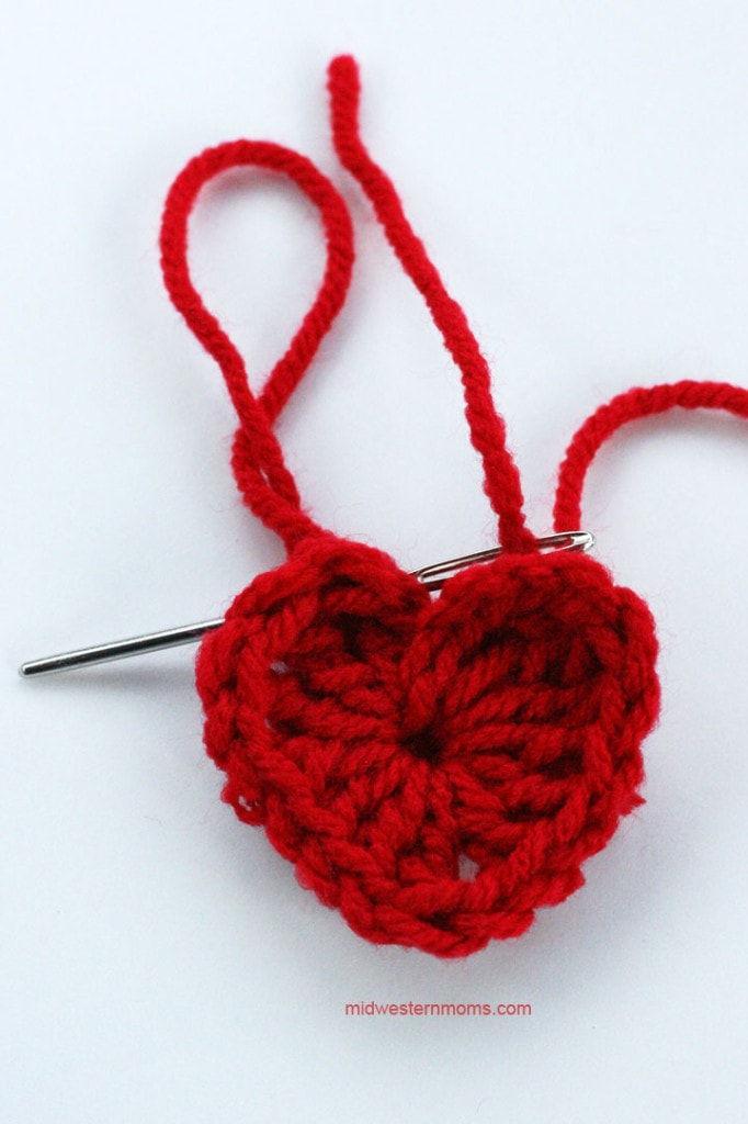 How to thread the small heart step 2