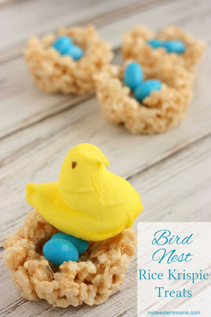 Bird Nest Rice Krispie Treats