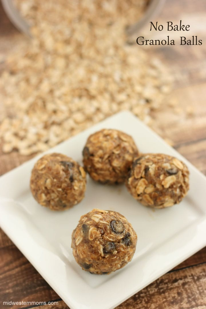 Easy No-Bake Granola Balls Recipe. Great snack time recipe and the kids will love it!