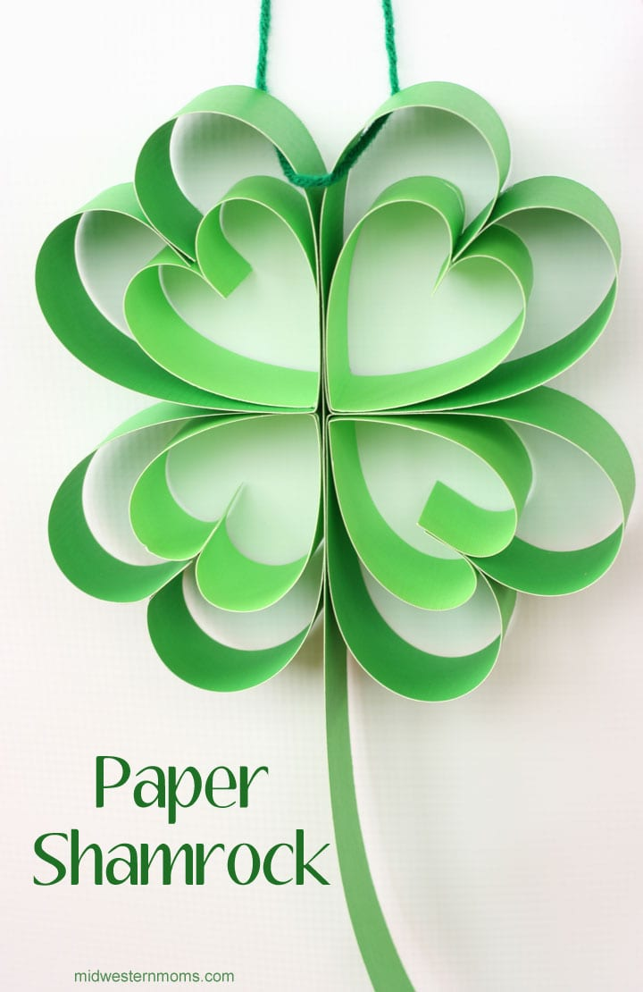 How to make a paper Shamrock