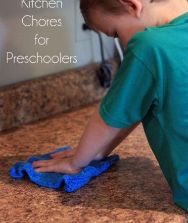 4 Kitchen Chores for Preschoolers