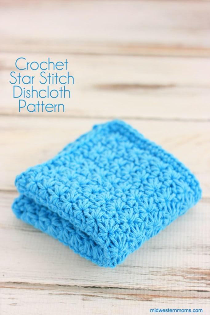 Crochet Star Stitch Dishcloth Pattern