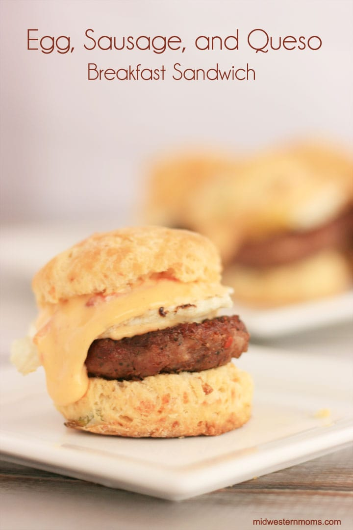 Egg, Sausage, and Queso Breakfast Sandwich Recipe