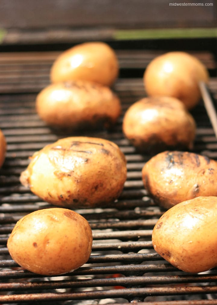 Grilled Potato Salad with Mustard Dressing