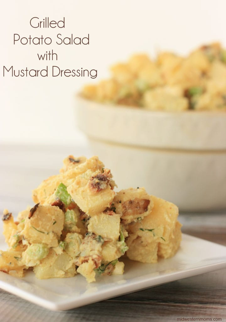 Grilled Potato Salad with Mustard Dressing - Perfect for summertime cookouts.
